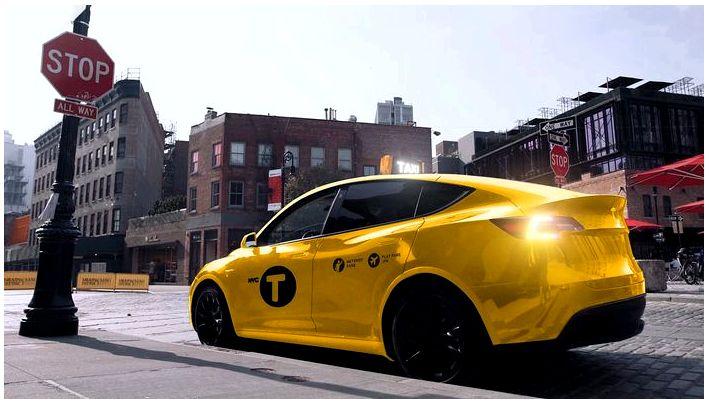 Первое желтое такси Tesla Model 3 в Нью-Йорке выходит на дорогу